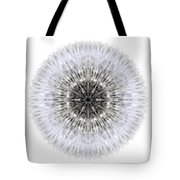 Dandelion Head I Flower Mandala White Tote Bag