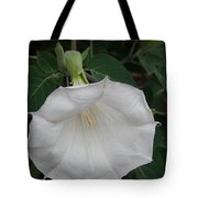 White Datura Tote Bag