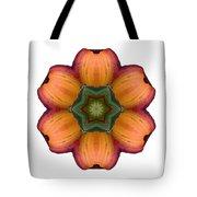 Daylily I Flower Mandala White Tote Bag