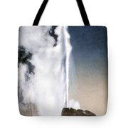 White Dome Geyser Yellowstone Np Tote Bag