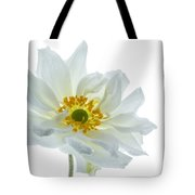 White Double Japanese Anemone Tote Bag