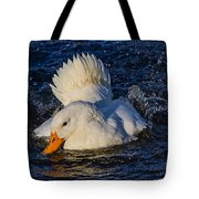 White Duck 3 Tote Bag