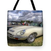 White E-type Tote Bag
