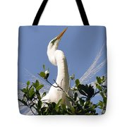 White Egret In Spring Tote Bag