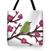 White Eye And Japanese Plum Tree Tote Bag
