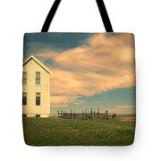 White Farmhouse And Corral Tote Bag