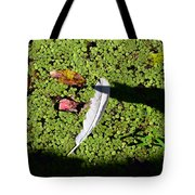 White Feather Lost Tote Bag