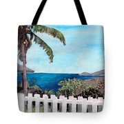 White Fence At English Harbour Antigua West Indies Tote Bag