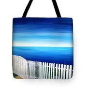 White Fence In Port Reyes National Seashore California Tote Bag