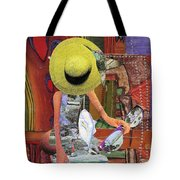The Green Hat Tote Bag
