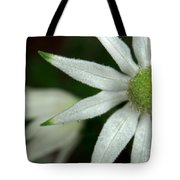 White Flannel Flowers Tote Bag