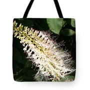 White Flower Panicle Tote Bag