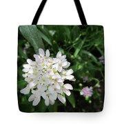 White Flowerettes Tote Bag