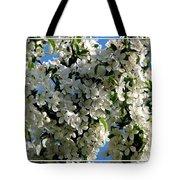 White Flowering Crabapple Tree Tote Bag