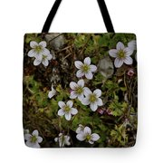 White Flowers And Moss Tote Bag