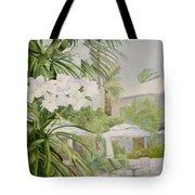 White Flowers Aruba Tote Bag