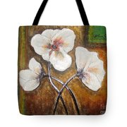 White Flowers Tote Bag by Elena  Constantinescu