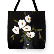 White Flowers In A Vase Tote Bag