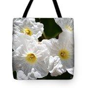 White Flowers In The Desert Tote Bag