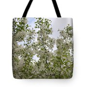 White Flowers On Branches Tote Bag