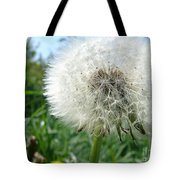 White Fluffy Tote Bag