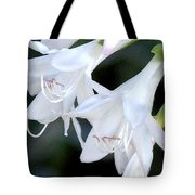 White Flute Blooms Tote Bag