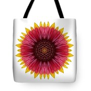 Galliardia Arizona Sun I Flower Mandala White Tote Bag