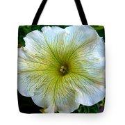 White Garden Petunia Tote Bag