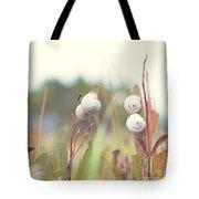 White Garden Snail Tote Bag