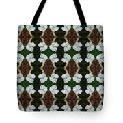 White Geranium Pattern Tote Bag