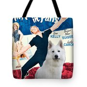 White German Shepherd Art Canvas Print - An American In Paris Movie Poster Tote Bag