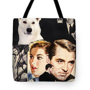 White German Shepherd Art Canvas Print - Suspicion Movie Poster Tote Bag