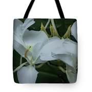 White Ginger Lily Tote Bag