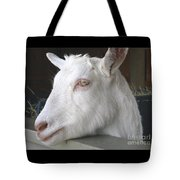 White Goat Tote Bag by Ann Horn