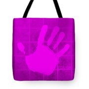 White Hand Purple Tote Bag