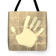 White Hand Sepia Tote Bag