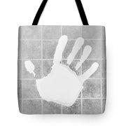 White Hand White Tote Bag