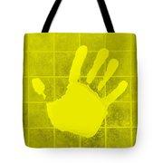White Hand Yellow Tote Bag
