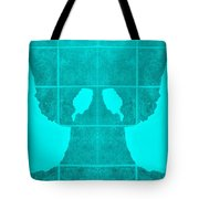 White Hands Aquamarine Tote Bag