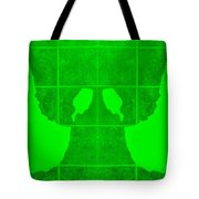 White Hands Green Tote Bag