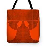 White Hands Orange Tote Bag