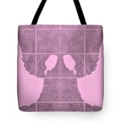 White Hands Pink Tote Bag