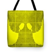 White Hands Yellow Tote Bag