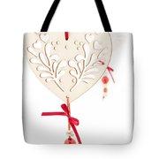 White Hearts Tote Bag