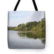 White Heron Lake Poconos Pa II Tote Bag by John Telfer