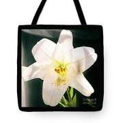 Easter Lily Up Close, Bermuda Tote Bag
