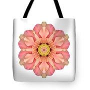 Hibiscus Rosa-sinensis I Flower Mandala White Tote Bag
