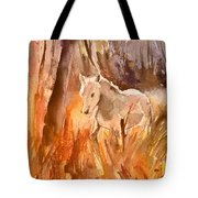 White Horse In The Camargue 01 Tote Bag