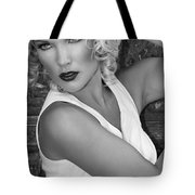 White Hot Bw Palm Springs Tote Bag