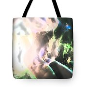 White Hot Fire Dancer Tote Bag